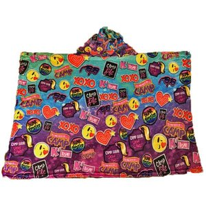 Camp Patches Hoodie Blanket