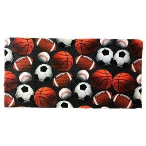 Charcoal Sports Balls Towel