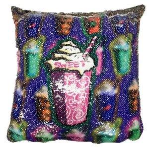 Lotsa Frapps Sequin Square Pillow