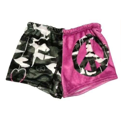 New Camo Fuzzy Shorts