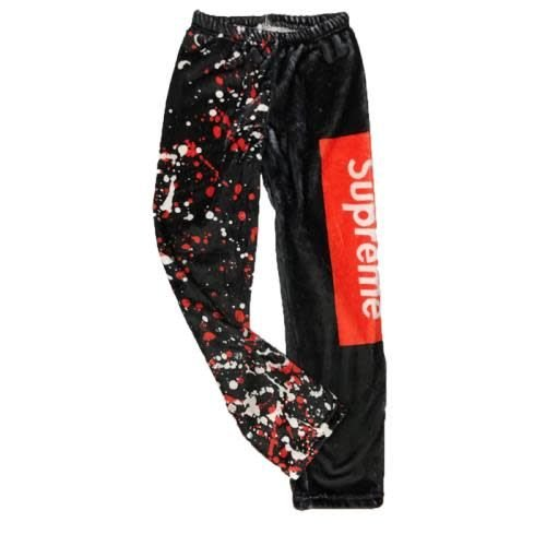 Splatter Supreme Fuzzy Pants