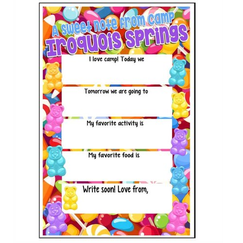 Candy Candy Fill-In Notecards