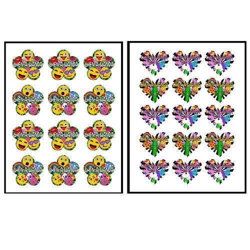 Camo Flower & Heart Stickers