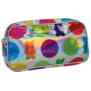 Polka Dot Gummy Bear Holographic Small Cosmetic Bag