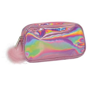 f7bfa77068f Pink Holographic Small Cosmetic Bag