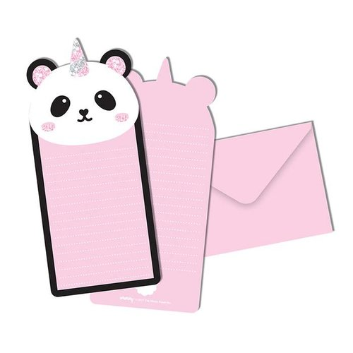Pandacorn Glitter Notecards