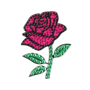 Pink Rose StickerBean