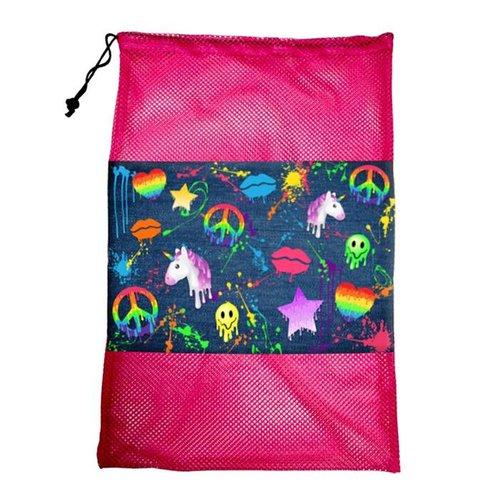 Denim Splatter Laundry Bag