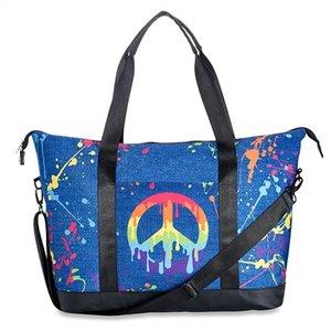 Denim Splatter Tote Bag