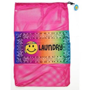 Hippie Emoji Mesh Laundry Bag