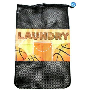 Basketball Court Mesh Laundry Bag