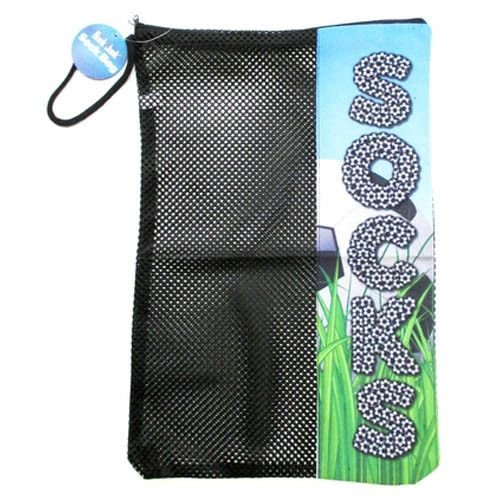 Soccer Field Mesh Sock Bag