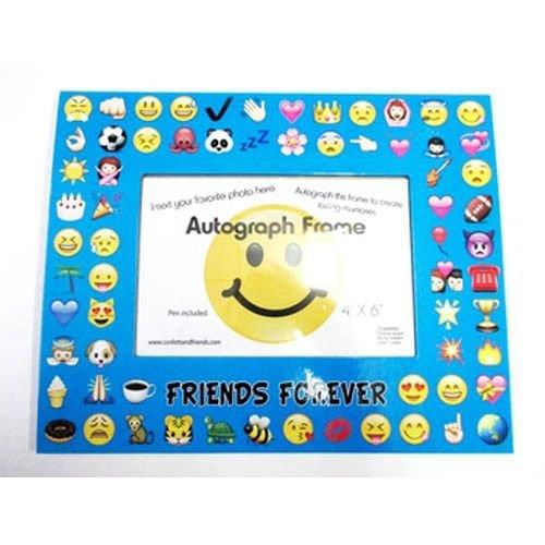 Blue Emojis Autograph Frame