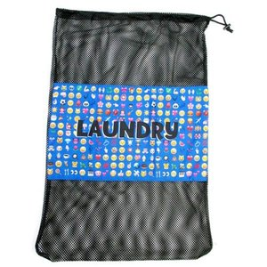 Small Emojis Mesh Laundry Bag