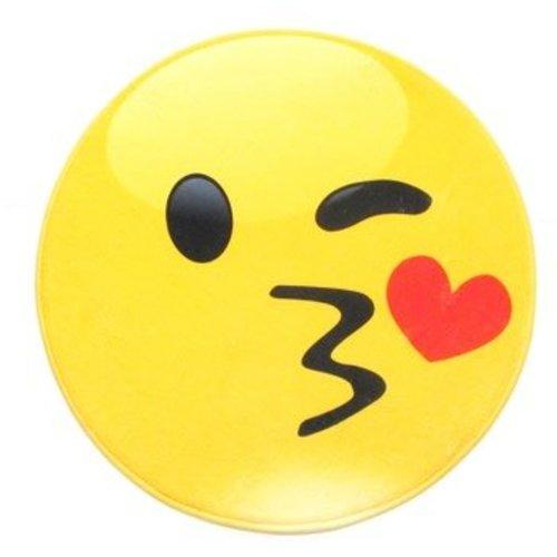 Kissy Emoji Round Mat