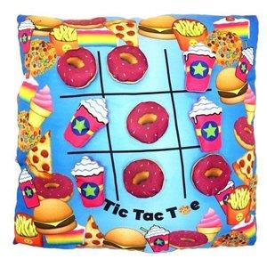 Donut Tic Tac Toe Pillow