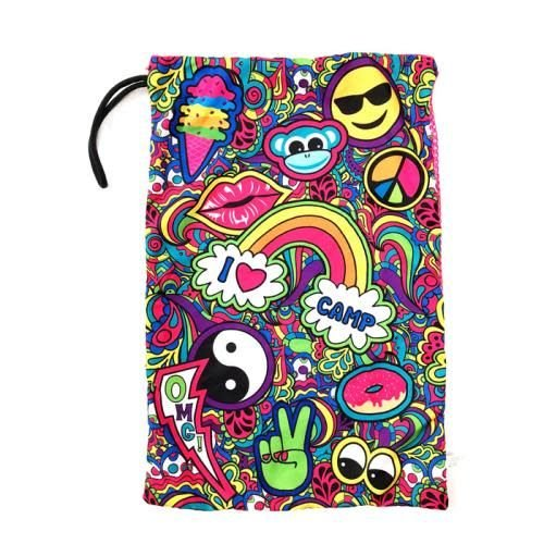 Paisley Love Camp Mesh Sock Bag