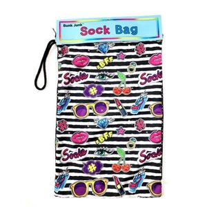 Stripe Patches Mesh Sock Bag