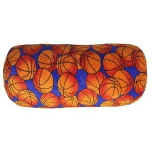 Basketballs Fuzzy Bolster Pillow