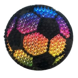 Rainbow Soccer Bling Sticker