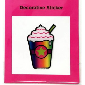Rainbow Frap Metal Sticker