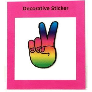Peace Fingers Metal Sticker