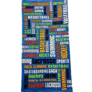 Sports Graffiti Words Towel