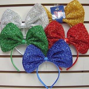 Giant Sparkly Bow Headband