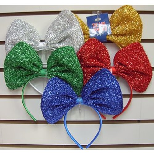 Giant Sparkly Bow Headband