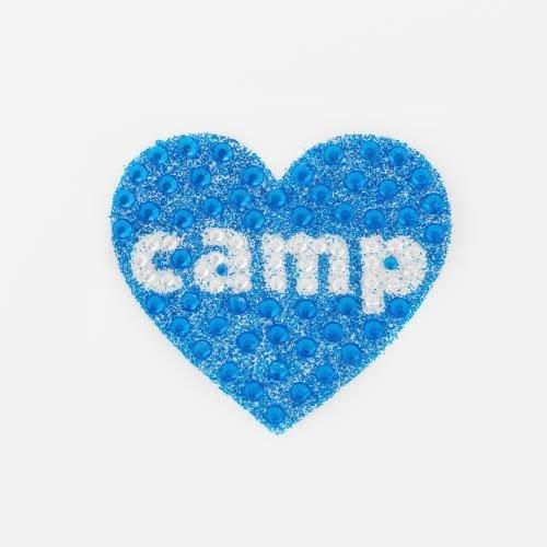 Blue Camp Heart StickerBean