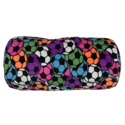 Neon Soccer Fuzzy Bolster Pillow