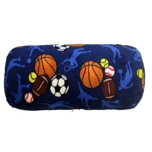 Sports Frenzy Fuzzy Bolster Pillow
