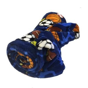 Sports Frenzy Fuzzy Blanket