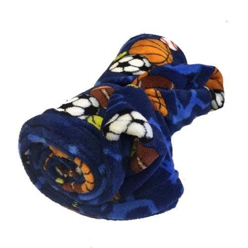 Sports Frenzy Fuzzy Blanket