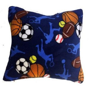 Sports Frenzy Fuzzy Square Pillow