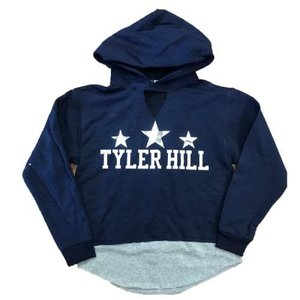 Layered Camp Name Cropped Hoodie