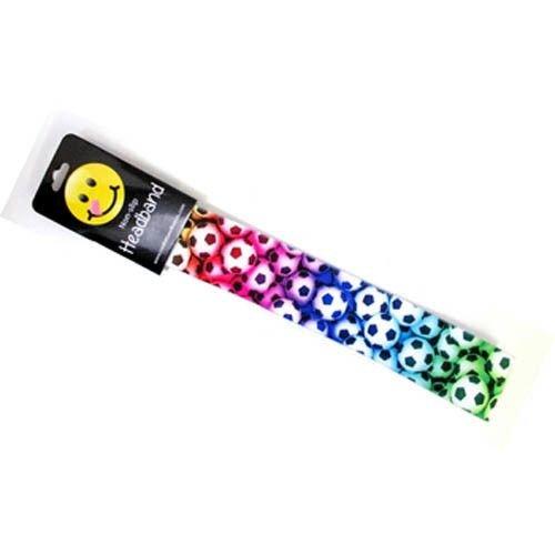 Non-Slip Headband Rainbow Soccer