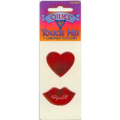 Love/Kisses Oily Stickers