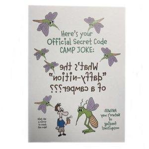 Mosquito Camp Joke Card