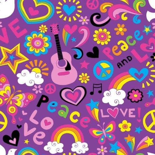 Purple Groovy Jersey Comforter