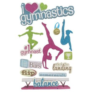 Gymnastics 3-D Stickers