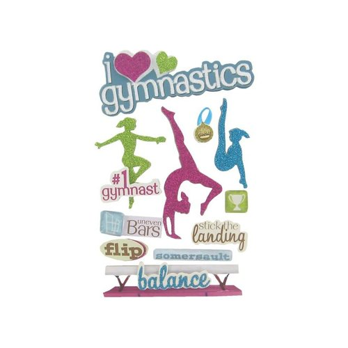 Gymnastics 3-D Stickers