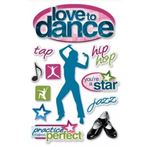 Love to Dance 3-D Stickers