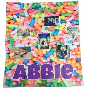 Custom Photo Collage Throw Blanket
