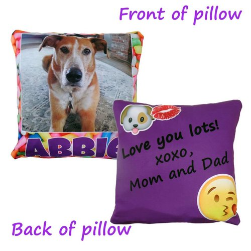 Custom Photo and Note Pillow