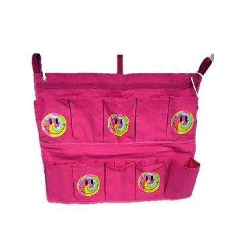 Pink Tie Dye Smiley Shoe Bag