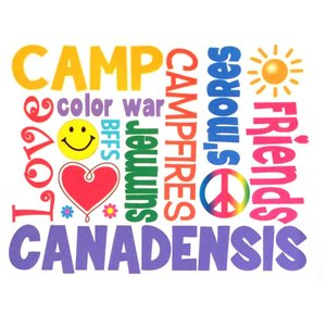 Color Words Camp Notecards
