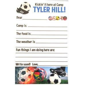 Soccer Fill-In Camp Notecards
