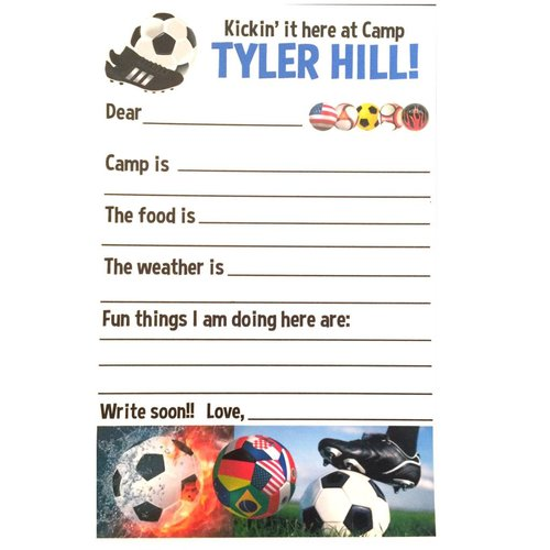 Soccer Fill-In Camp Notecards