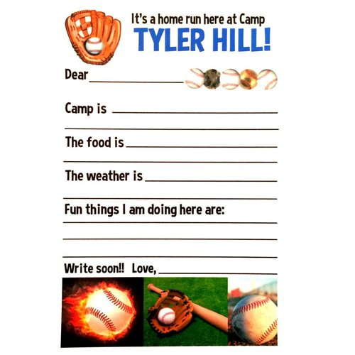 Baseball Fill-In Notecards